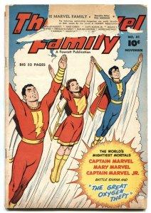 Marvel Family #41 1949- Fawcett Golden Age- F/G