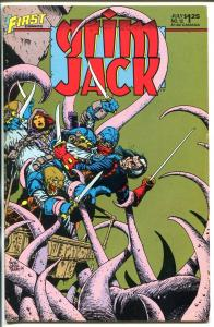 GRIM JACK #12 1985-SIGNED-FIRST ISSUE-WILLIAM MESSER-LOEBS-fn/vf
