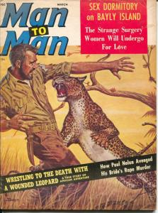 Man To Man 3/1963-exploitation-cheesecake-WWII pulp thrills-Syd Shores-VG