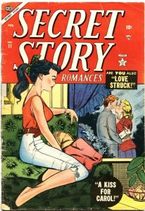 SECRET STORY ROMANCES #11-1955-PIN UP COVER-STAN LEE-VERY RARE-GIRL ART-PRE CODE