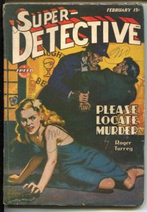 Super-Detective 2/1944-Allen Anderson GGA cover-Hardboiled pulp from Roger Torre