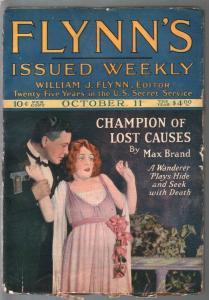 Flynn's #4 10/11/1924-Munsey-gun moll-hardboiled crime-Max Brand-G