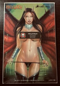 HELLWITCH THE FORSAKEN #1 RISQUE SLIPPERY EDITION SIGNED PULIDO RARE LTD 150 NM+