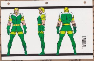 Official Handbook of the Marvel Universe Sheet- Fandral
