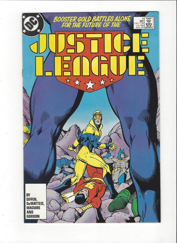 Justice League #4 1987 DC Comics Copper Age  NM
