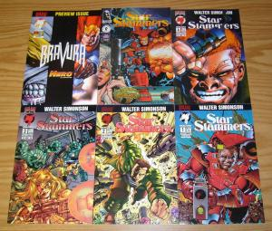 Star Slammers #1-4 VF/NM complete series + special + preview WALTER SIMONSON set