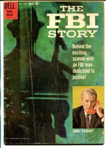 FBI Story-Four Color Comics #1069 1959-Dell-James Stewart-Alex Toth-G