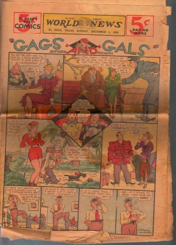 El Paso World News Comic Section 12/1/1935-newsprint-Gasoline Alley-Jefferson Ma