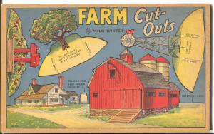 Farm Cut-Outs #1054 1938-Whitman-heavy cardboard punch outs-VF