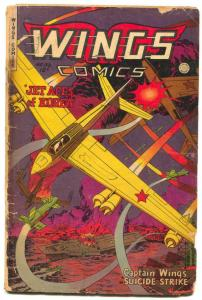 Wings #116 1951- Fiction House- Korean War low grade