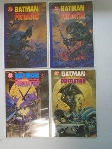 Batman vs. Predator set #1-3 + Alternate cover #1DB 8.0 VF (1991 1st Series)
