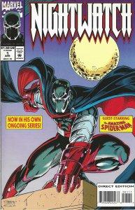 Nighwatch #1 (Apr 94) - guest-starring Spider-Man