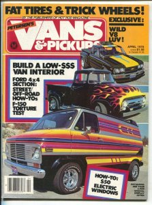 Vans & Pickups #1 4/1978-Petersen-1st issue-Southern States Collection-VF