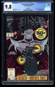 Silver Surfer (1987) #50 CGC NM/M 9.8 White Pages Second (2nd) Print!