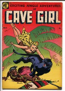 Cave Girl #14 1954-ME-Jungle girl art-Bob Powell-final issuet-VG+