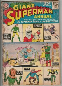 Superman, Giant Annual # 5 Strict GD- Affordable-Grade Super-Monkey, Krytpo wow