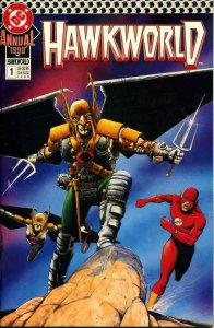 Hawkworld Annual #1 VF/NM; DC | save on shipping - details inside