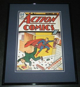 Action Comics #7 Superman Framed Cover Photo Poster 11x14 Official Repro