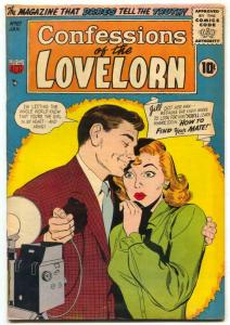 Confessions of The Lovelorn #67 1956- ACG Romance FN