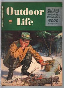 Outdoor Life 4/1946-Popular Science-hunting & fishing-bobcat print-FN