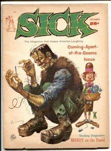 Sick Magazine December 1963- FRANKENSTEIN Jack Davis FR