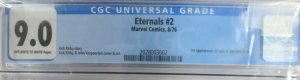 THE ETERNALS #2 (Marvel,8/1976) CGC 9.0  1st Ajax & Celestials
