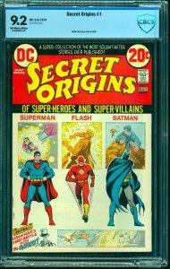 Secret Origins #1 CBCS NM- 9.2 Off White to White Superman Batman Flash!