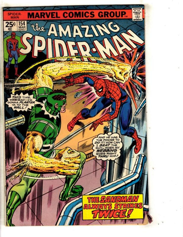 Amazing Spider-Man # 154 FN Marvel Comic Book Green Goblin Vulture Mary J JG9