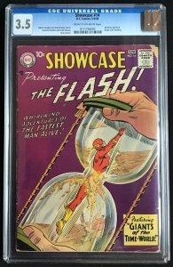Showcase #14 CGC Graded 3.5 Silver Age Flash Intro Dr. Alchemy X-Men #95 CGC ...