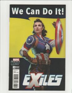 Exiles #3 (Marvel 2018) 1:10 Variant Peggy Carter as Captain America