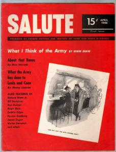 Salute #1  4/1946-1st issue-elusive military magazine-cheesecake-FN/VF