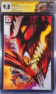 Venom #3 CGC 9.8 SS 3x signed Cates Stegman Kirkham ️ KNULL custom label