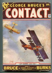 GEORGE BRUCE'S CONTACT 04/1934-WWI-BI-PLANE-TINSLEY-DOG FIGHT-vg minus