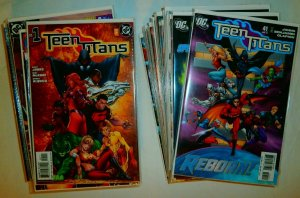 Teen Titans V3 (2003) #1/2,1-14,27,28,34-51,53-64+ Geoff Johns, comics lot of 54