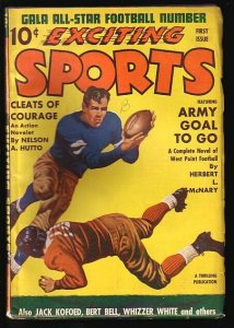 EXCITING SPORTS-WINTER 1941-#1-RARE!!!-L@@K!! VG