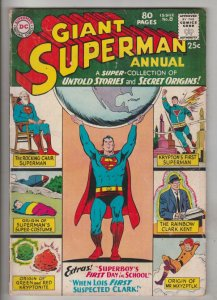 Superman Giant Annual #8 (Aug-64) VG/FN+ Mid-Grade Superman