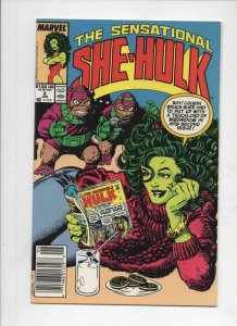 SHE-HULK #2 NM-,  John Byrne, 1989, more Marvel and She-Hulk in store