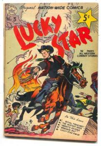 LUCKY STAR #3 1951-NATION-WIDE COMICS-JACK DAVIS-NM