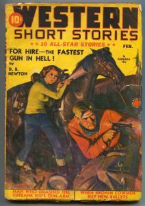 Western Short Stories Pulp February 1941- DB NEWTON vg