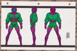 Official Handbook of the Marvel Universe Sheet- Kang