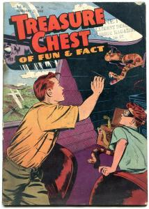 Treasure Chest v.4 #13 1949- Snake attack cover- Catholic Golden Age comic