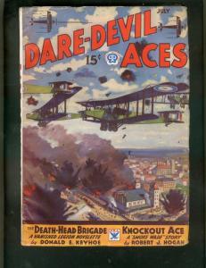 DARE-DEVIL ACES PULP-JULY 1934-SMOKE WADE BY ROBT HOGAN FN
