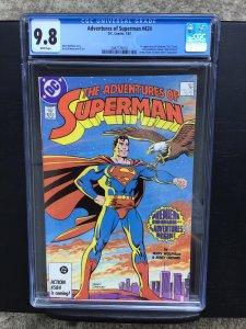 Adventures Of Superman 424 Cgc 9.8 White Pages Dc Comics