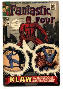 FANTASTIC FOUR #56-comic book KLAW-JACK KIRBY-MARVEL VG