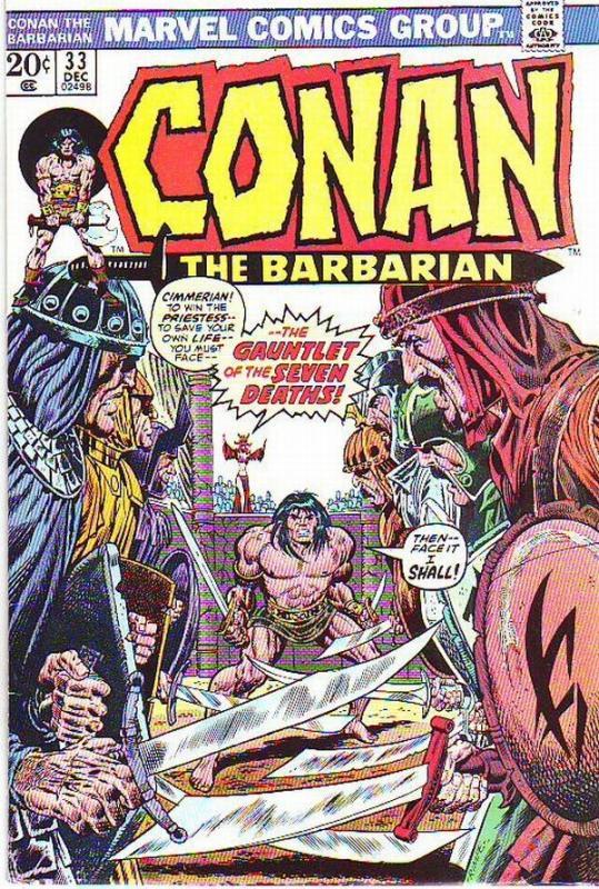 Conan the Barbarian #33 (Dec-73) VF High-Grade Conan the Barbarian