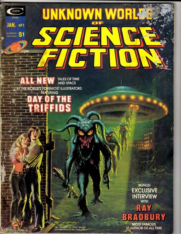Unknown Worlds Of Science Fiction # 1 GD/VG Marvel Comic Book Magazine TD14