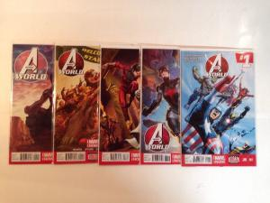 Avengers World 1-5 Near Mint Lot Set Run Marvel Now Hickman Spencer