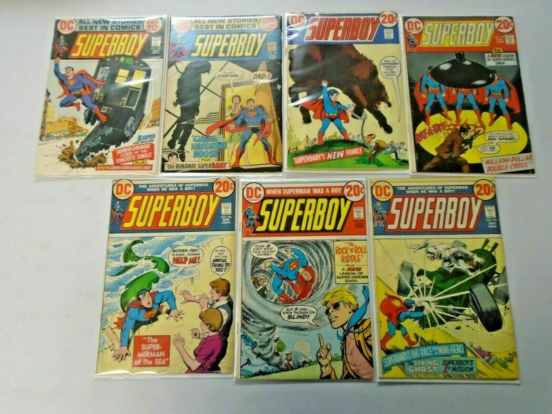 Bronze Age Superboy Comic Lot 20¢ Covers From #188-204 14 Diff Avg 5.0 (1972-74)