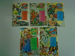 Who's Who Update 1987 set #1-5 8.5 VF+ (1987)
