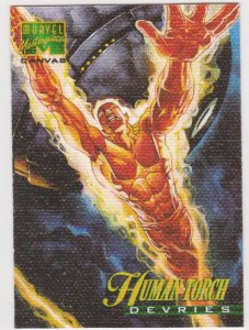1995 Marvel Masterpieces Canvas #9 Human Torch